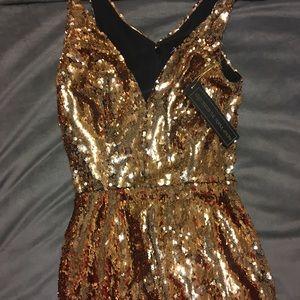 Kim midi dress gold